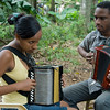 Accordion lesson, Rio San Juan, Dominican Republic.
