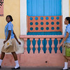 Teenage school girls, Santo Domingo, Dominican Republic.