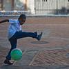 Boy playing in plaza, Santo Domingo, Dominican Republic