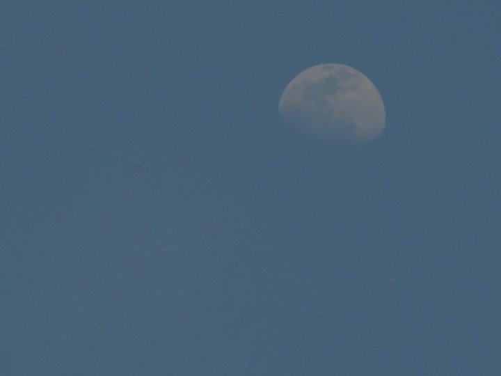 A nice moon was watching us.