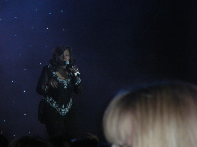 Gloria Gaynor singing at the gala