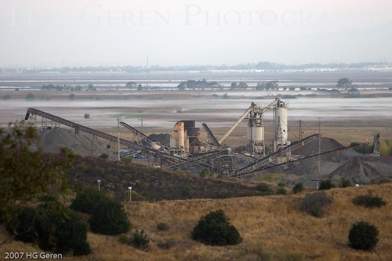 The Dumbarton Quarry; now closed <br /> Don Edwards Wildlife Refuge, Fremont, California<br /> 0709R-DQ1