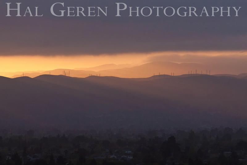 Sunrise over Fremont<br /> Don Edwards Natl Wildlife Refuge, Fremont, California<br /> March, 2009<br /> 0904R-SOF1
