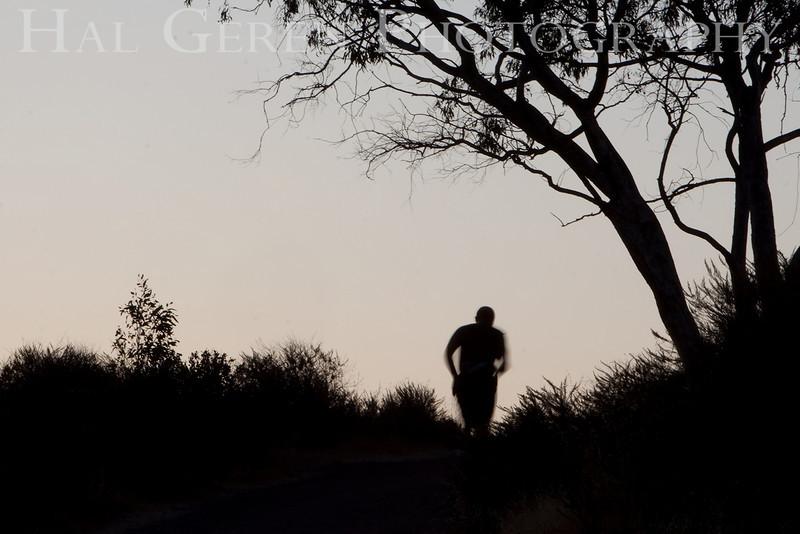Early Morning Jogger<br /> Don Edwards Natl Wildlife Refuge, Fremont, California<br /> 0909R-J146