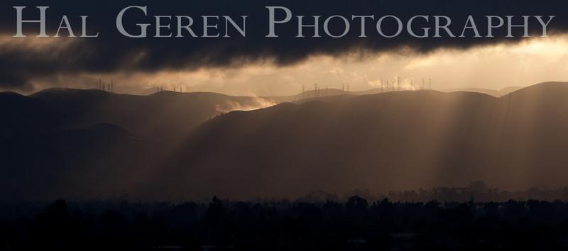 Sunrise over Fremont<br /> Don Edwards Natl Wildlife Refuge, Fremont, California<br /> 0909R-SOF1