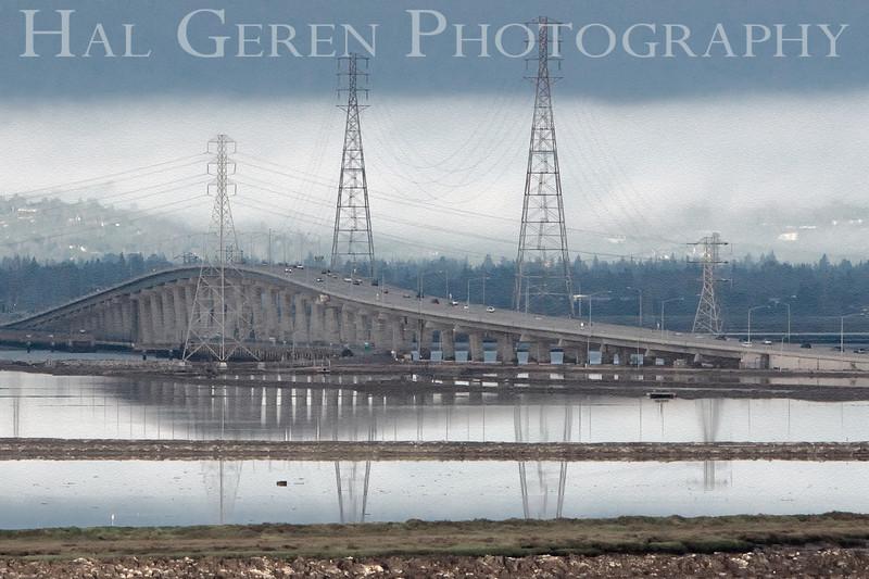 Dumbarton Bridge<br /> Don Edwards Natl Wildlife Refuge, Fremont, California<br /> May, 2009<br /> 0905R-DB3