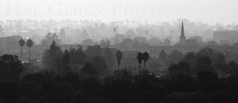 Haze over Newark<br /> Don Edwards Natl Wildlife Refuge, Fremont, California<br /> 0909R-NHM3BW