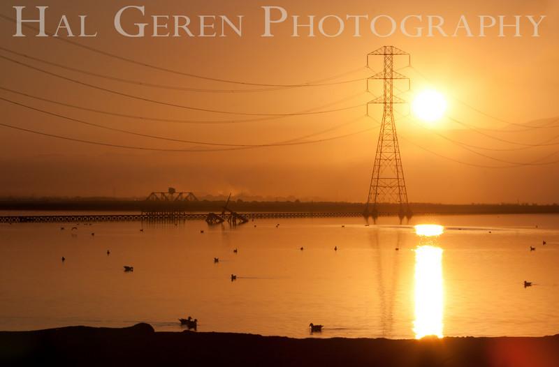 Salt Pond Sunrise<br /> Don Edwards National Wildlife Refuge.  Fremont, CA<br /> 1009R-PL12