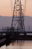 Power lines over the early morning salt ponds<br /> Don Edwards National Wildlife Refuge.  Fremont, CA<br /> 1009R-PL9E1
