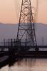 Power lines over the early morning salt ponds<br /> Don Edwards National Wildlife Refuge.  Fremont, CA<br /> 1009R-PL9E1