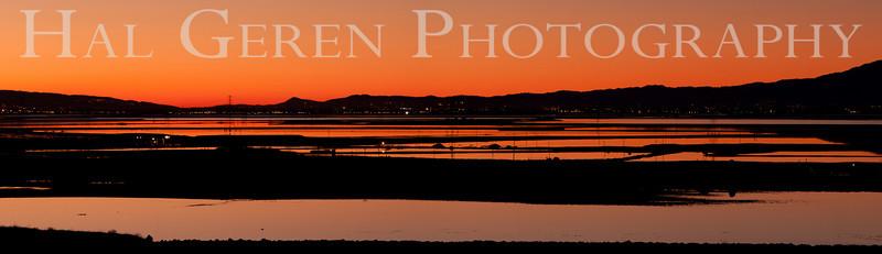 Sunrise over the South Bay<br /> Don Edwards National Wildlife Refuge, Fremont, CA<br /> 0912R-SBP5