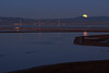 Moonset on the Bay<br /> Don Edwards Natl Wildlife Refuge, Fremont, CA<br /> 1203R-MTOB1