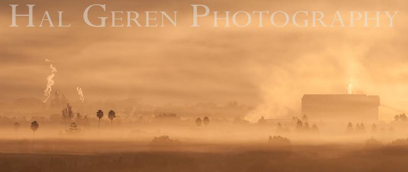 Morning Mist over Newark<br /> Don Edwards National Wildlife Refuge, Fremont, California<br /> 1211R-MM3A