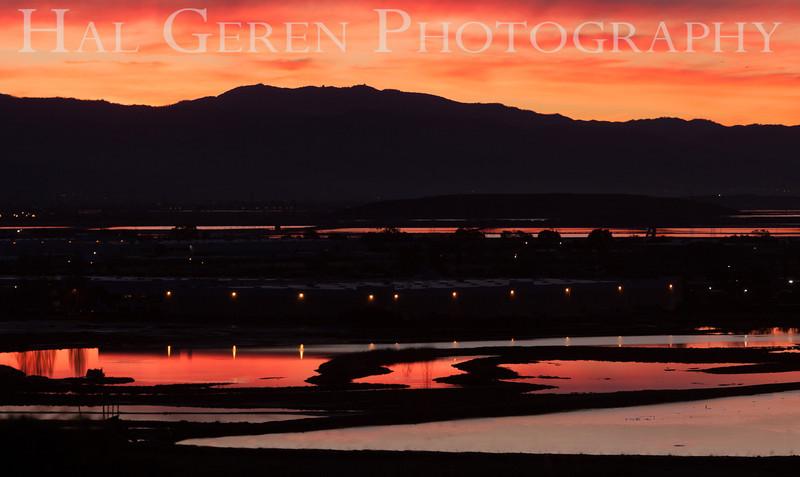 Dawn over the Southeast Bay<br /> Don Edwards National Wildlife Refuge, Fremont, California<br /> 1212R-SB3