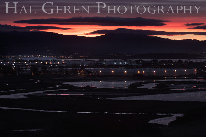 Dawn over the Southeast Bay<br /> Don Edwards National Wildlife Refuge, Fremont, California<br /> 1212R-SB5