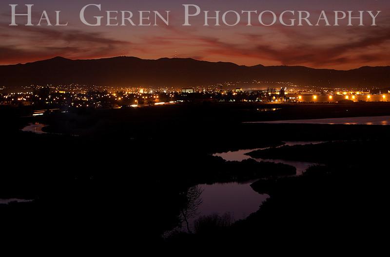 Dawn over Newark<br /> Don Edwards Natl Wildlife Refuge, Fremont, CA<br /> 1111R-SN1