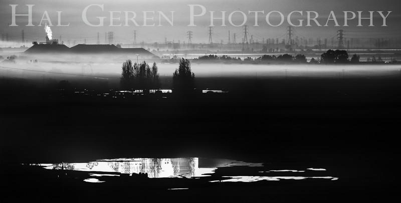 Dawn over the Newark Saltpile<br /> Don Edwards National Wildlife Refuge, Fremont, California<br /> 1211R-MMBW2