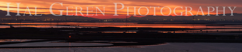 The southern San Francisco Bay; downtown San Jose is under the 'T' in the Photography watermark<br /> Don Edwards National Wildlife Refuge, Fremont, California<br /> 1212R-SBP1
