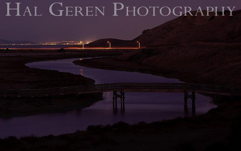 Bridge over Newark Slough<br /> Don Edwards Natl Wildlife Refuge, Fremont, CA<br /> 1111R-NSB1