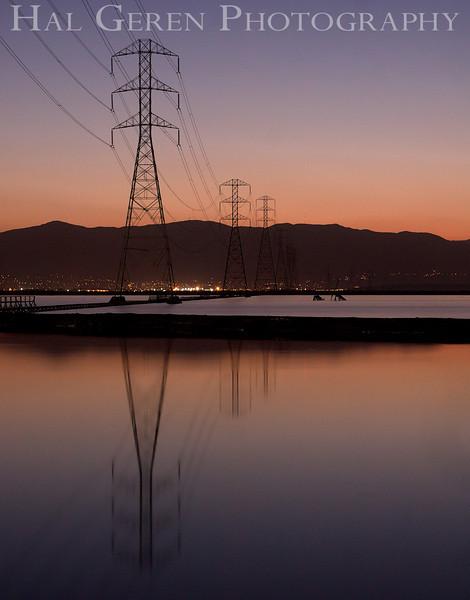 Power Lines and Salt Ponds<br /> Don Edwards Natl Wildlife Refuge, Fremont, CA<br /> 1111R-SPLASP4