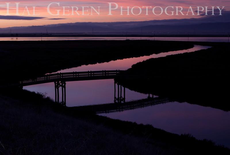 Newark Slough Bridge<br /> Don Edwards Natl Wildlife Refuge, Fremont, CA<br /> 1111R-SB2