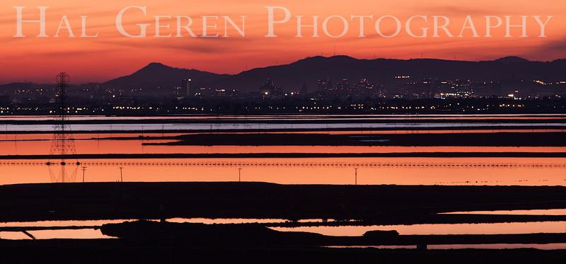 San Jose from Fremont<br /> Don Edwards National Wildlife Refuge, Fremont, California<br /> 1212R-SJFF5