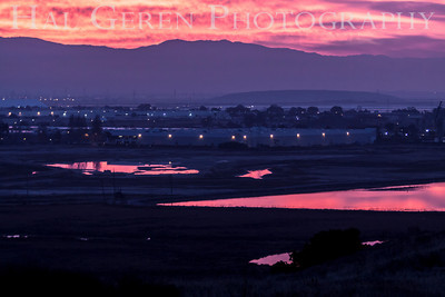 Sunrise over Newark from Don Edwards National Wildlife Reserve Fremont, California 1310R-S1