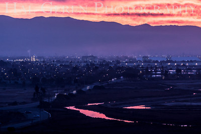 Sunrise over Newark from Don Edwards National Wildlife Reserve Fremont, California 1310R-S2
