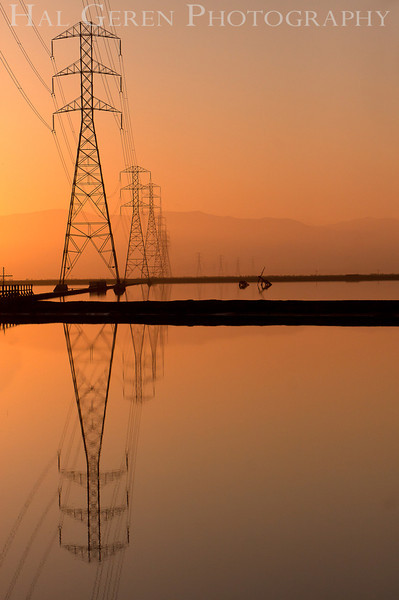 Power Lines on the Bay<br /> Don Edwards Nat'l Wildlife Refuge<br /> Fremont, California<br /> 1109R-PL1