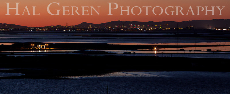 South San Francisco Bay Sunrise<br /> Don Edwards Nat'l Wildlife Refuge<br /> Fremont, California<br /> 1102R-SBSP9