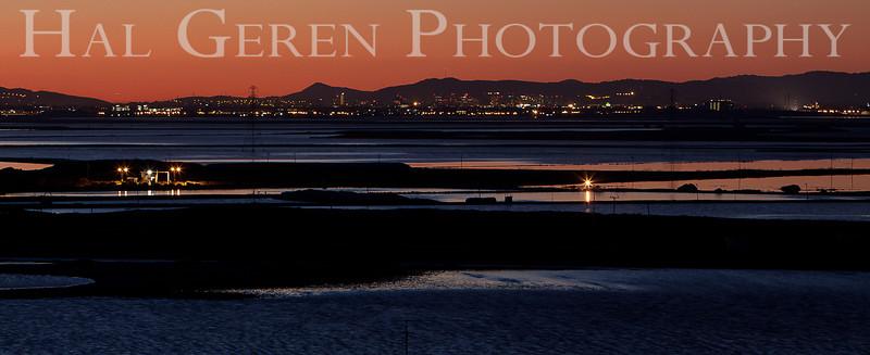 South San Francisco Bay Sunrise<br /> Don Edwards Nat'l Wildlife Refuge<br /> Fremont, California<br /> 1102R-SBSP9
