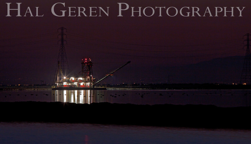 SS Mallard dredging the Levees<br /> Fremont, California<br /> 1112R-SSM10