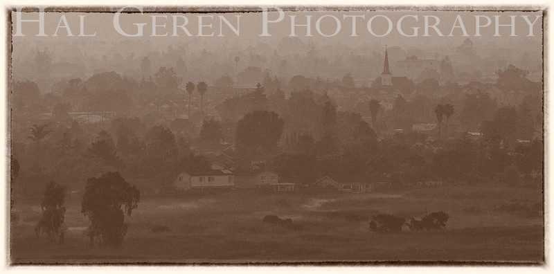 Misty Dawn over Newark<br /> Don Edwards Nat'l Wildlife Refuge<br /> Fremont, California<br /> 1107R-ND1E1