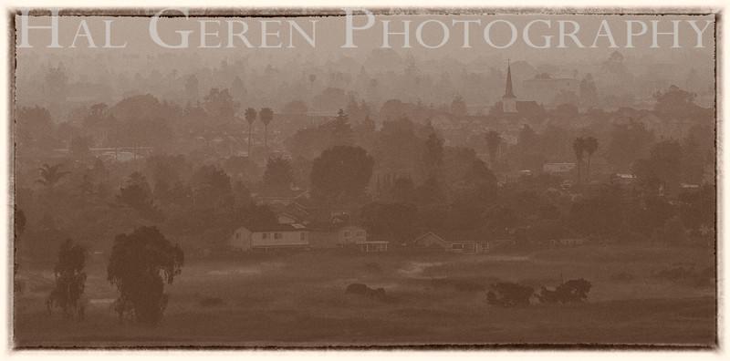 Misty Dawn over Newark<br /> Don Edwards Nat'l Wildlife Refuge<br /> Fremont, California<br /> 1107R-ND1E1