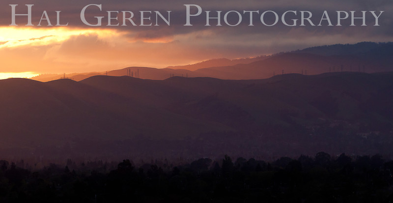 Sunrise on the Hills over Fremont<br /> Fremont, California<br /> 1104R-SOF2