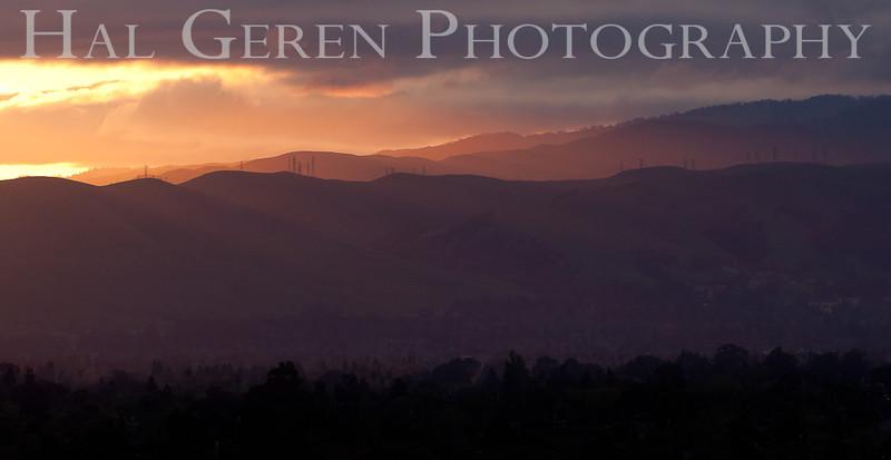 Sunrise on the Hills over Fremont<br /> Fremont, California<br /> 1104R-SOF2