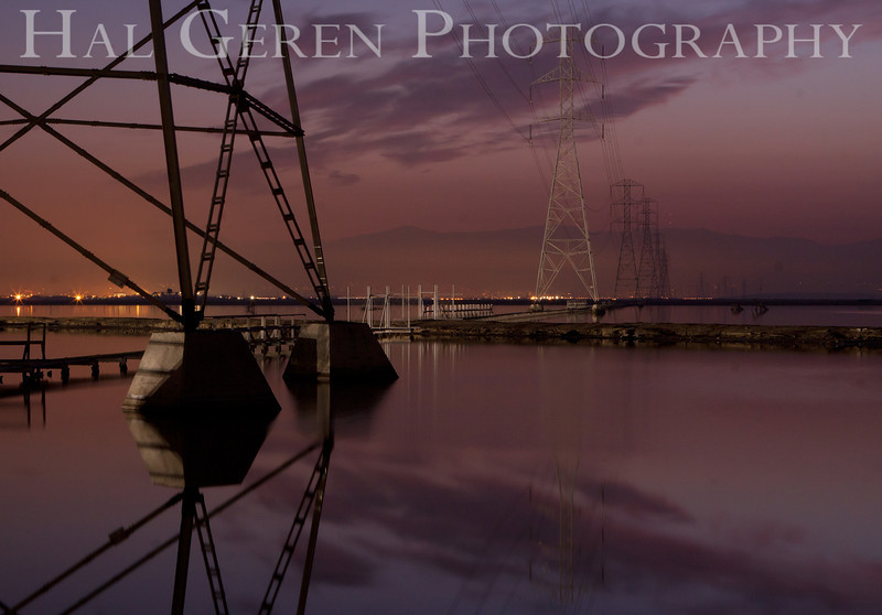 Power Lines on the Salt Ponds<br /> Fremont, California<br /> 1112R-PL1