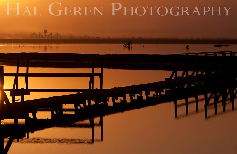 Sunrise over the Salt Ponds<br /> Don Edwards Nat'l Wildlife Refuge<br /> Fremont, California<br /> 1109R-SOTSP6