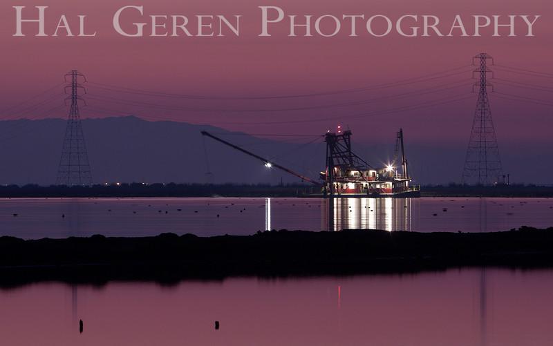 SS Mallard dredging the Levees<br /> Fremont, California<br /> 1112R-SSM5