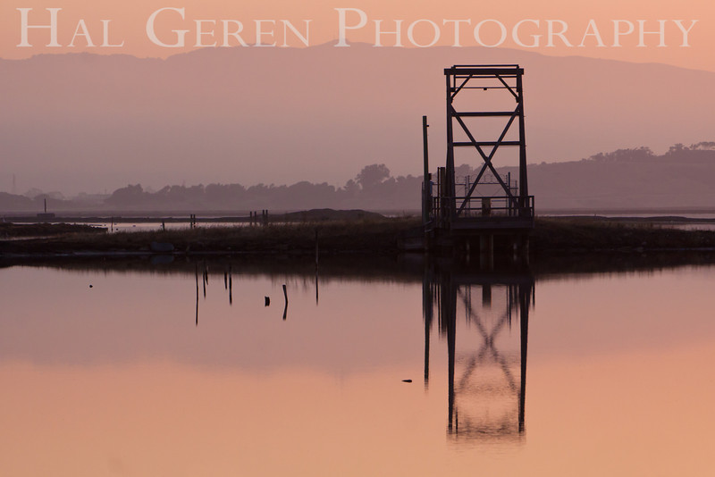 Sunrise over the Salt Ponds<br /> Don Edwards Nat'l Wildlife Refuge<br /> Fremont, California<br /> 1109R-SOTSP3