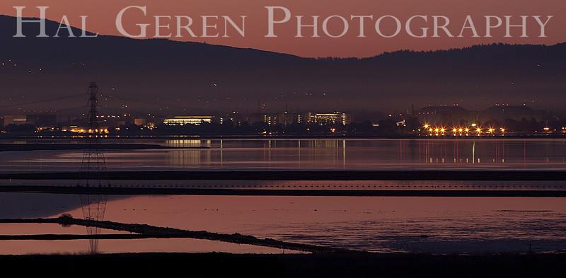 South San Francisco Bay Sunrise<br /> Don Edwards Nat'l Wildlife Refuge<br /> Fremont, California<br /> 1102R-SBSP10