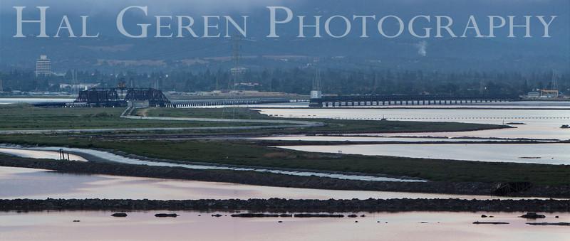 Dumbarton Railroad Bridge<br /> Don Edwards Nat'l Wildlife Refuge<br /> Fremont, California<br /> 1107R-DRB1A