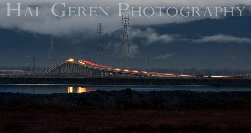 The Dumbarton Bridge<br /> Don Edwards Wildlife Refuge, Fremont, CA<br /> 1012R-D1