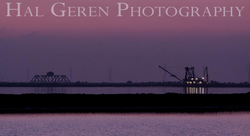 SS Mallard dredging the Levees<br /> Fremont, California<br /> 1112R-SSM2