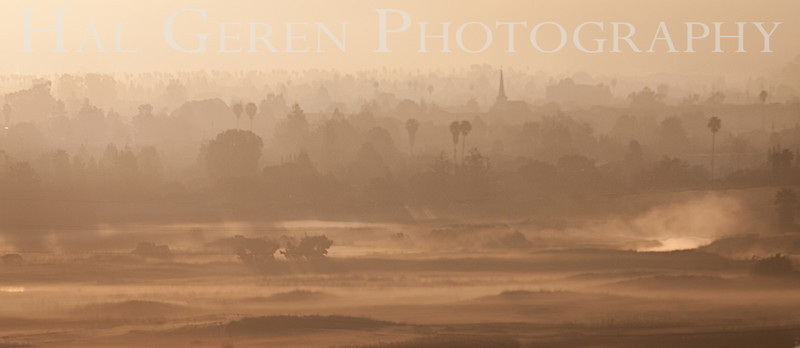 Morning Mist over Newark<br /> Don Edwards National Wildlife Refuge<br /> Fremont, California<br /> 1303R-NM1