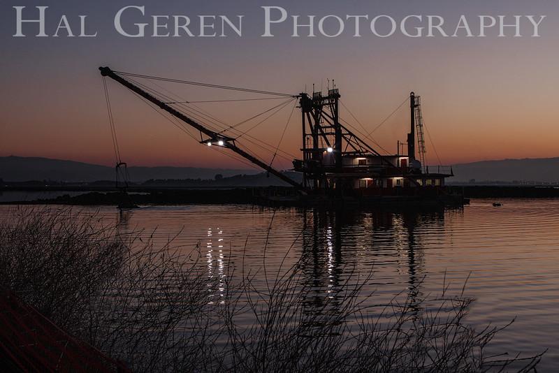 The Mallard II Bay Dredger<br /> Don Edwards National Wildlife Refuge<br /> Fremont, California<br /> 1301R-M5