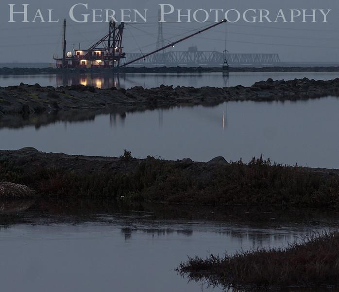 The Mallard II Bay Dredger<br /> Don Edwards National Wildlife Refuge<br /> Fremont, California<br /> 1301R-M2