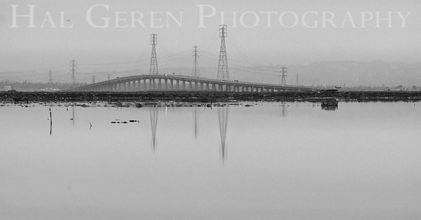 Dumbarton Bridge on a Misty Morning Fremont, California 1308R-D1E2BW1