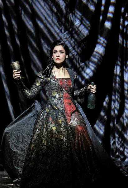 Soprano Myrto Papatanasiu is Donna Elvira in San Diego Opera's DON GIOVANNI, February 2015. Photo by Cory Weaver