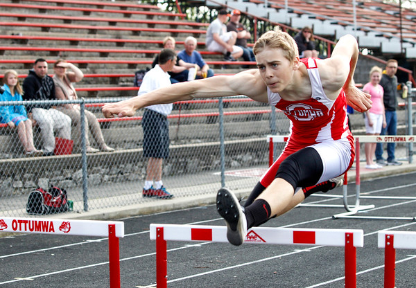 Schools compete in the annual Don Newell Track and Field Invitational in Ottumwa Thursday, April 19, 2016.